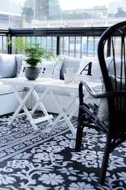 exterior awesome scandinavian balcony designs with black and