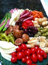 antipasto platter makes a great thanksgiving appetizer