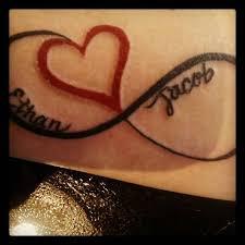 tattoo name infinity nice red amazing heart with nice infinity name text black ink tattoo