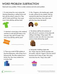 practice word problem subtraction worksheet education com