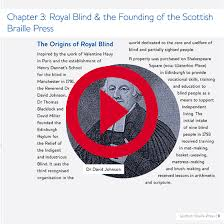 History Of The Blind A History Of Braille And The Scottish Braille Press Audio Book