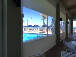 Clear Vinyl Roll Up Blinds Outdoor by Southern Patio Enclosures Restaurant Wind Screens