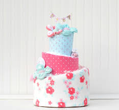 diaper cake shabby chic baby shower floral baby shower