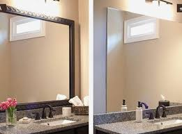 Diy Bathroom Mirror by Bathroom Mirror Frame Kit Framed And Fabulous A Diy Mirrormate
