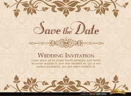 golden floral wedding invitation template vector free vector