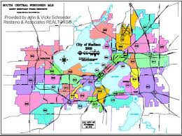 map of oregon wi real estate show wi mls map showing areas of