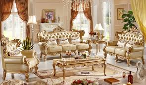 Italian Living Room Sets Classic Italian Style Luxury Leather Sofa Set Living Room Sofa