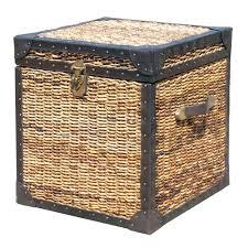 wicker trunks coffee table make your own wicker trunks ottoman