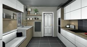 Kitchen Design Tunbridge Wells Satin White Handleless Kitchen With Oak In Tunbridge Wells