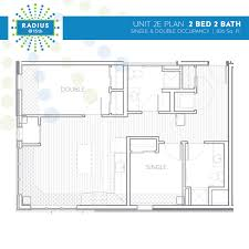 Average Square Footage Of A 2 Bedroom Apartment Radius Housing And Residential Life