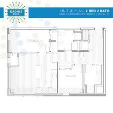 radius housing and residential life radius 3 person 2 bedroom