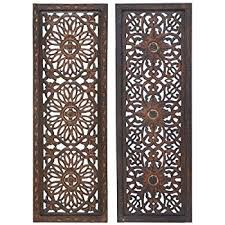 deco 79 wood carved wall panel 60 by 60 home kitchen