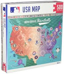 Map Of Mlb Teams Amazon Com Masterpieces Mlb Map Jigsaw Puzzle 500 Piece Toys