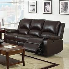 faux leather reclining sofa shop furniture of america oxford casual rustic dark brown faux