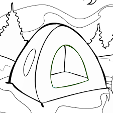 tent coloring pages print download free printable coloring pages