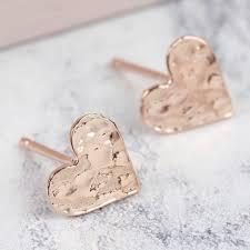 stud earings hammered heart stud earrings earrings angel