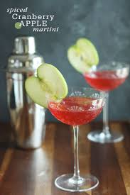 martini apple spiced cranberry apple martini