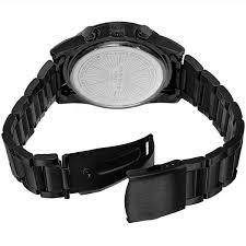 stainless steel black bracelet images Akribos xxiv men 39 s multifunction tachymeter stainless steel black jpg