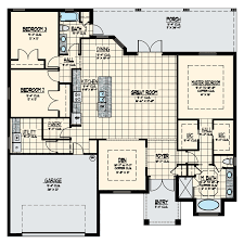 3 bedroom 2 bath 2 car garage floor plans the aston home model floor plan synergy homes