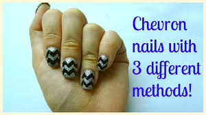 how i do chevron zigzag nails with 3 different ways explained