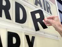 plastic letters alphabet signs