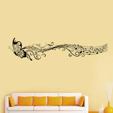 Cool Wall Decals by New Music Musical Note Staff Butterfly Wall Sticker Decal Home