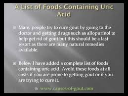 a list of foods containing uric acid youtube
