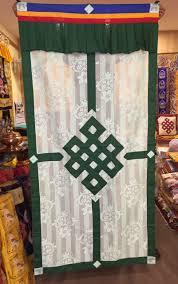 malas wall hangings door curtains khatas tibetan lacy net endless