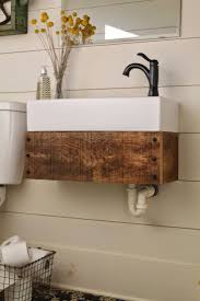 Bathroom Furniture Wood Bathroom Reclaimed Wood Bathroom Vanity For Access And Storage
