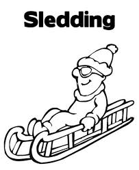 happy sledding free winter coloring pages winter coloring pages