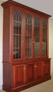 cherry wood bookcase with doors design interior home decor