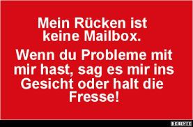 mailbox spr che mein rücken ist keine mailbox lustige bilder sprüche witze