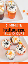 5 minute halloween jello spider shots so festive