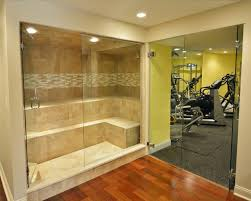 Backyard Steam Room Basement Retreat Transitional Home Gym Boston By The Wiese