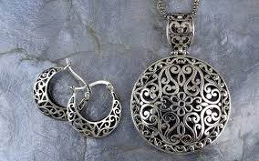design sterling silver necklace images Sterling silver bali inspired filigree pendant jpg
