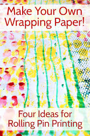 make your own wrapping paper make your own wrapping paper 4 ideas for rolling pin printing