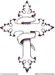 Crosses Tattoos - cross flash outline 50 cross tattoos designs of