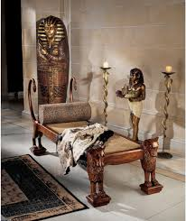 ancient egyptian home decor ancient egyptian handcarved royal king tut chaise lounge amazon