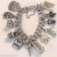 s charm bracelet avery charm bracelet 12 4 retired heavy curb silver new