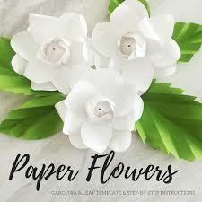 gardenia flower paper gardenia template paper flower template paper flower