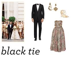 black tie attire wedding attire black tie the nouveau romantics2 jpg