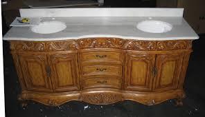 73 inch antique style double sink bath vanity