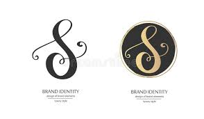 monogram letter s luxury calligraphic letter s monogram vector logo template