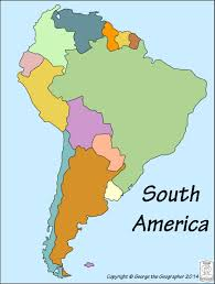 Geographical Map Of South America Outline Base Maps