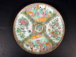 canton porcelain 19th c export enameled canton porcelain plate figures
