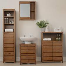Solid Oak Bathroom Furniture Uk westbay solid wood bathroom cabinets storage ideas