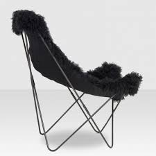 Black Butterfly Chair Campaign Butterfly Chair Black Fur Elte Market