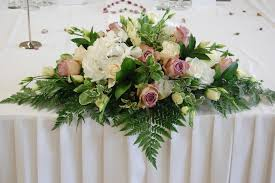wedding flowers table decorations top table decorations for weddings and the top table