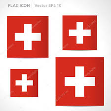 Flag White With Red Cross Switzerland Flag Template U2014 Stock Vector Betavid 49772217