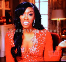 what type of hair does porsha stewart wear porsha stewart s holt eli red lace dress on real housewives of